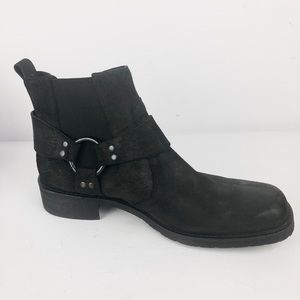 Other - Alfani Men's Boot Black Leather Suede Size 9 M